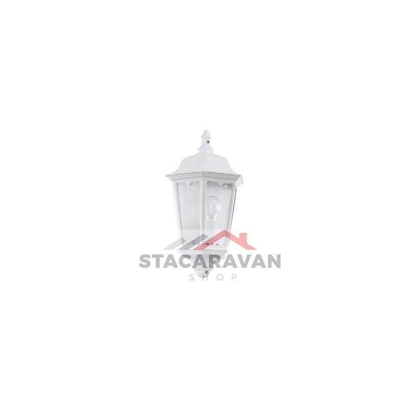 Buitenmuurverlichting halve lantaarn, aluminium en glas IP44 ...