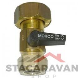 Gaskraan voor Morco G11 accepteert een 15mm feed.