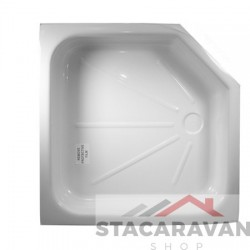 renovatie douche bak  670 x 460mm kleur: wit