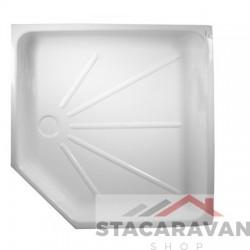 Kunstof douchebak inzetstuk 685x680 mm, 80 mm diep  kleur wit