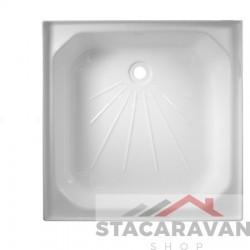 Vierkante plastic douchebak 609mm x 609mm kleur: wit