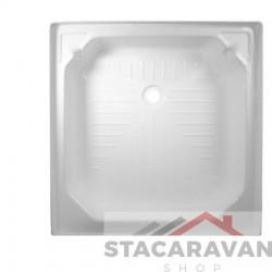 Vierkante plastic douchebak wit