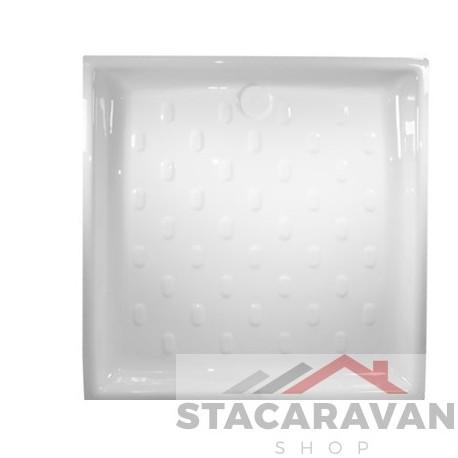 Plastic douchebak 755 mm x 755 mm - kleur: wit