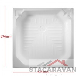 Plastic renovatie douchebak 682x682 mm - kleur: Wit