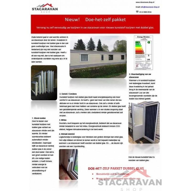 Dubbel Glas Kopen.Kunststof Kozijnen Van Stacaravan Shop Een Energiezuinige Keuze