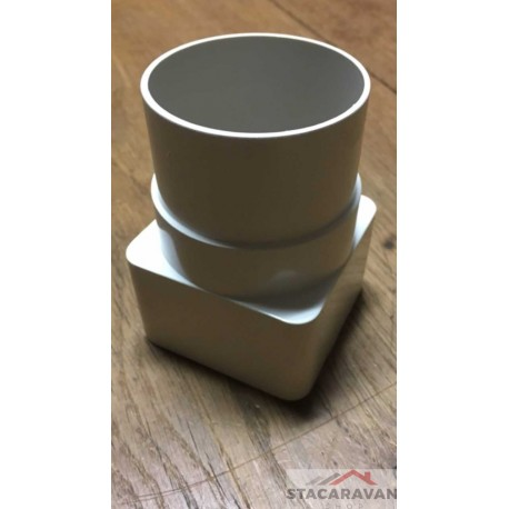 Square line koppelstuk naar rond 65mm