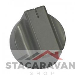 Gasregelknop zilver 600Dis