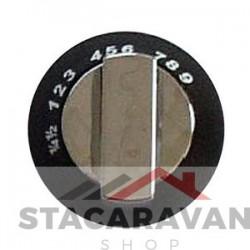 Regelknop oven, zwart chroom. Enigma (SPCC0595.CR),