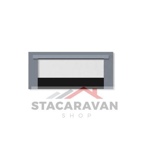 Grill deur 600DIS, Silver.